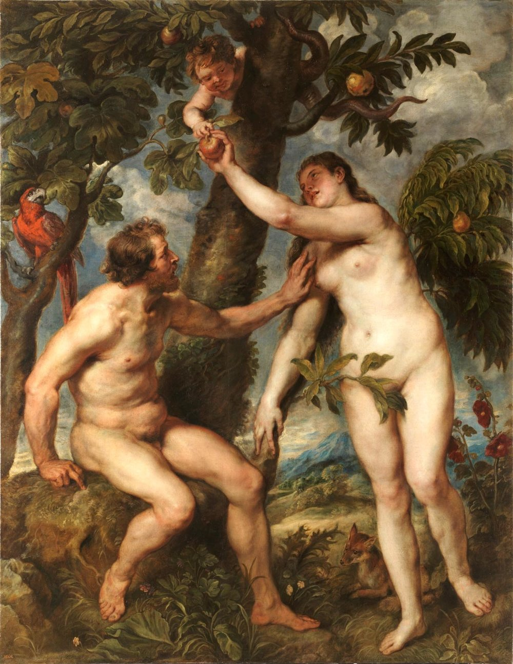 The Fall of Man, Adam and Eve, Pieter Paul Rubens 1629