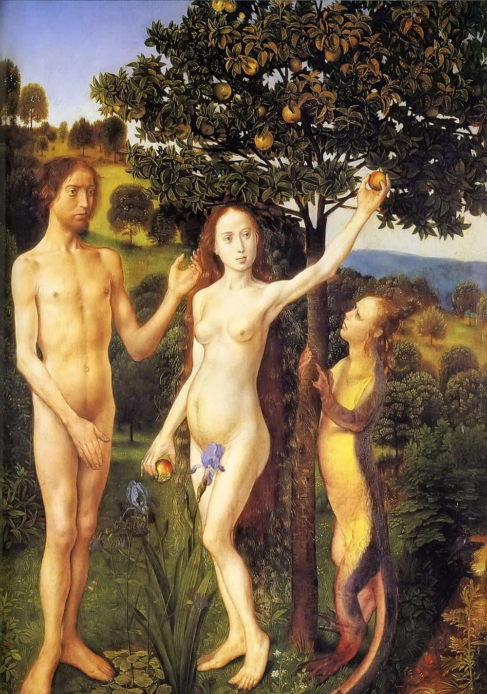 The Fall of Adam and Eve, Hugo van der Goes, 1470