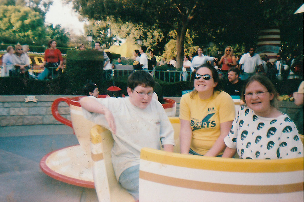 Bethany at Disneyland with her sister Ashley and her brother Jared. 2000.