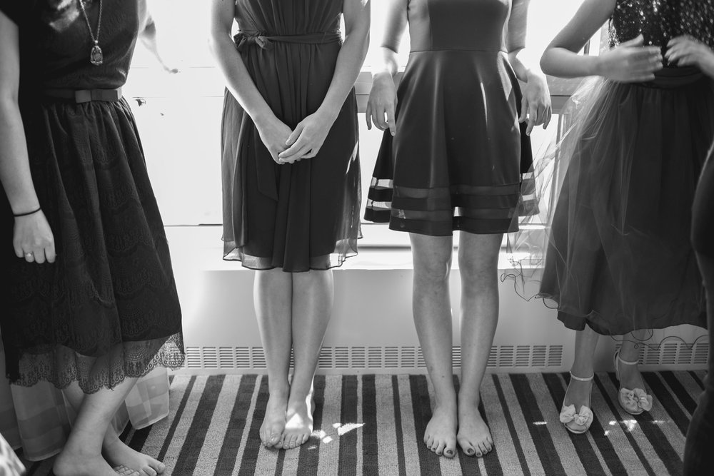 mix + match bridesmaid dresses