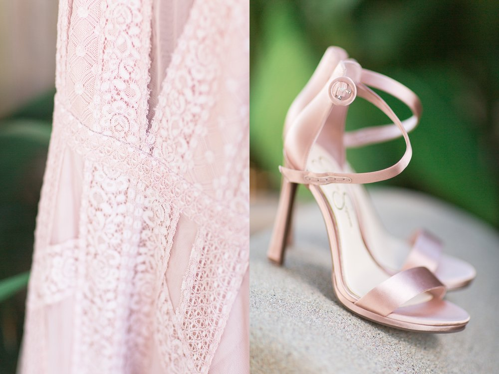 Komorebi Photography -Blush Wedding Dress at Lycan Conservatory