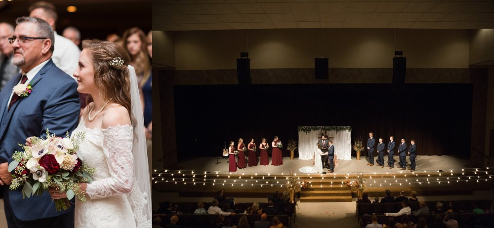 Wedding at Greentree Church in Rolla Missouri By: Jessica McBroom