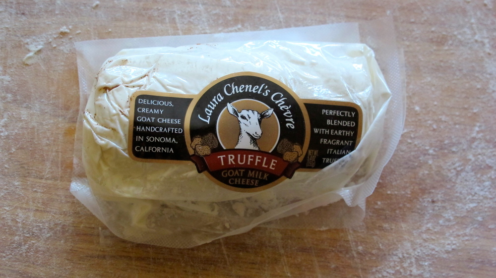 You can find this yummy truffle goat cheese at Whole Foods