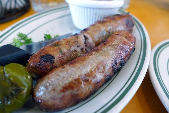 Feeling Adventurous? Try the Alligator Sausage with orange remoulade