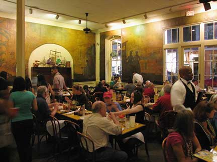Classic New Orleans architecture surrounds you while you dine here.