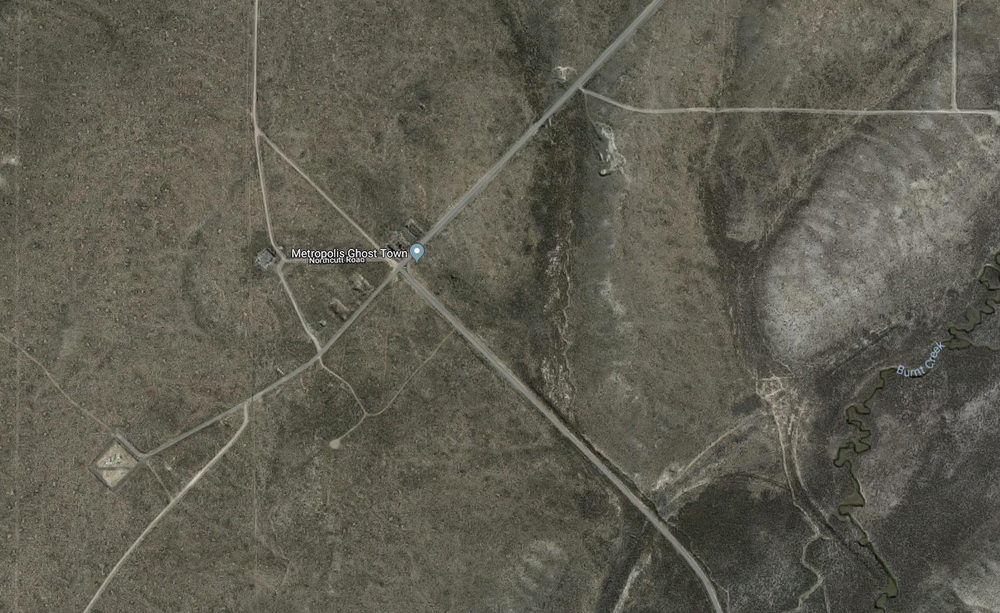 The bleak aerial view of Metropolis from Google Earth.