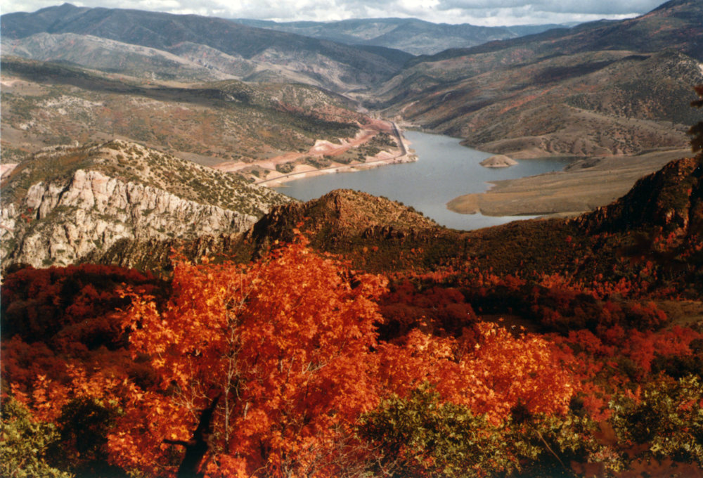 Fall above Thistle Lake in September 1983. Photo courtesy of the Utah State Archives and Records Service.