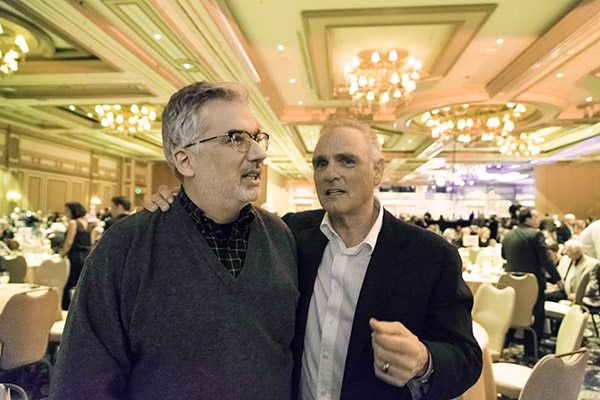 Here I am at a charity event at last year's CES, catching up with actor/director Joe Regalbuto, who once took one of my lighting classes at Photoshop World. Let's see what this year brings.