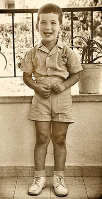 Happy Jack as a child in Israel