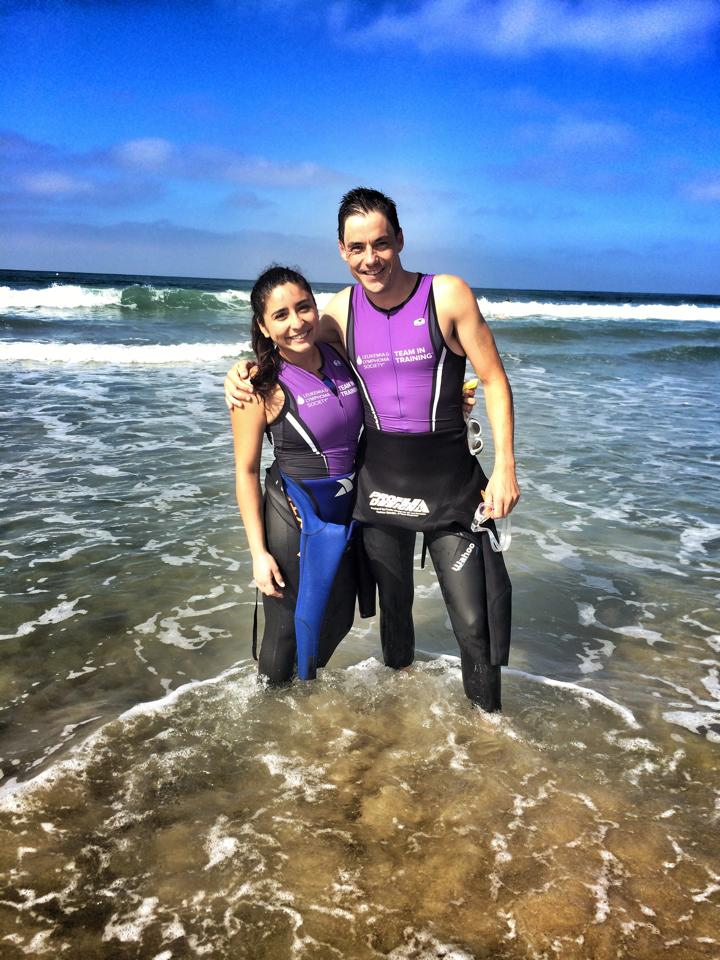That's Jessica Brizuela. She's a music therapist and an amazing swimmer. If I have any speed in the water it's thanks to her pushing me every week in practice.