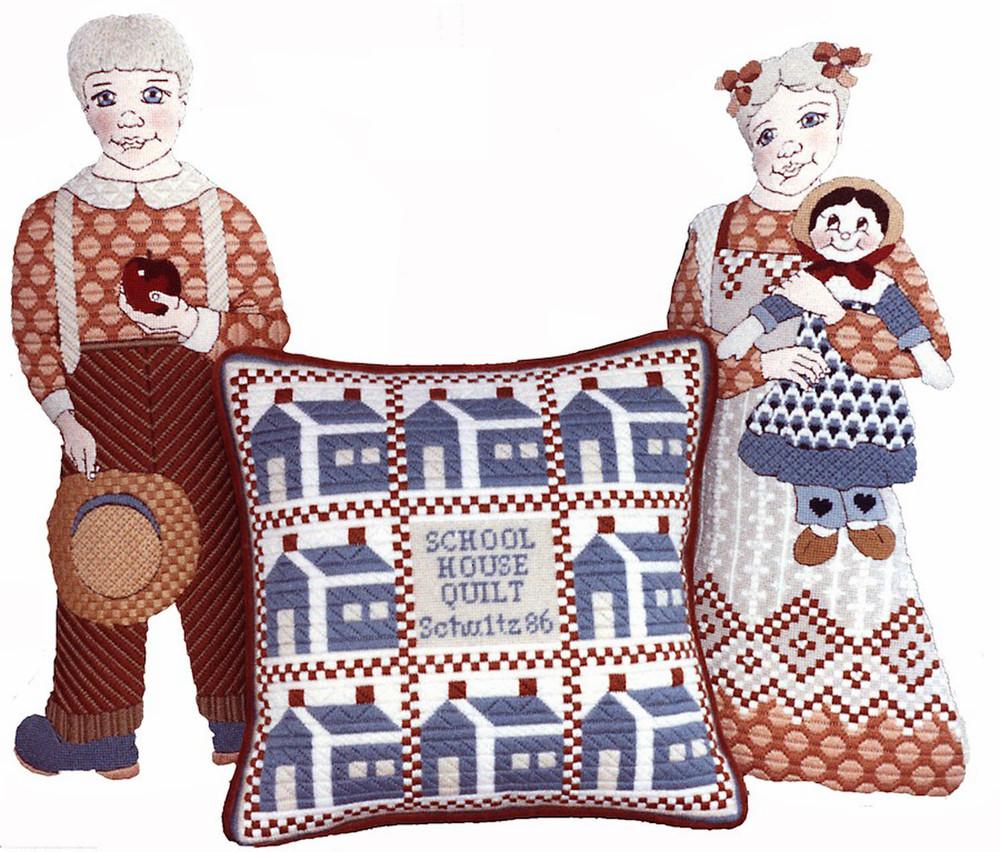 School House Pillow & Figures