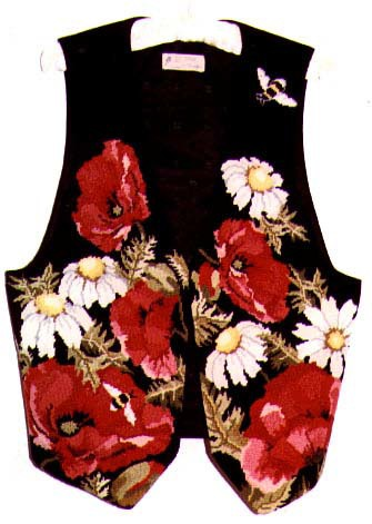 The Needlepointed Poppy Vest