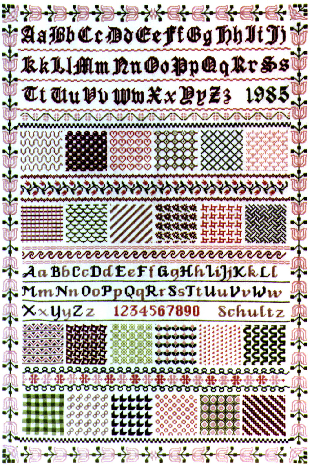 CyberSampler I Cross-Stitch Sampler