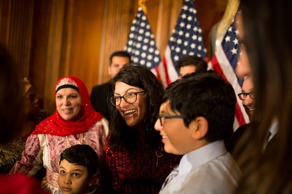 """I will always embrace my roots and allow it to help me to serve with love and unwavering fight for justice."" -#RashidaTlaib . . . . Democrats took control of the House on January 3, 2019 as the 116th Congress is sworn in on a day of historic firsts. (2019)"