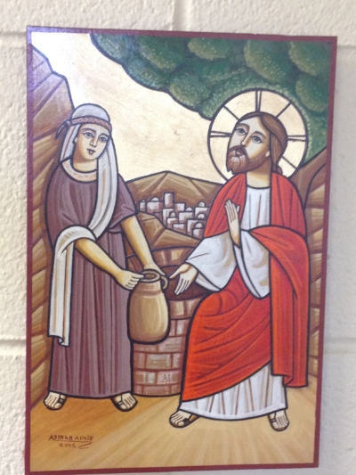 hanging on my office wall--the Samaritan woman, first preacher of the gospel