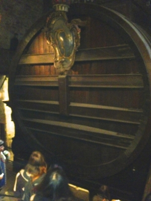the largest wine cask ever known to hold wine….(at the castle in Heidelberg, Germany)