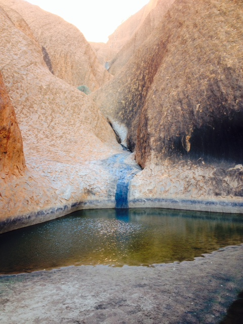 The main water source at Uluru (Australia) ~Barb C