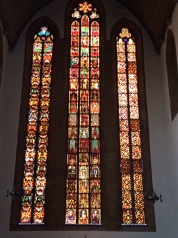 The newly restored windows in the Augustinerkloster (the church at the monastery where Luther became a monk)