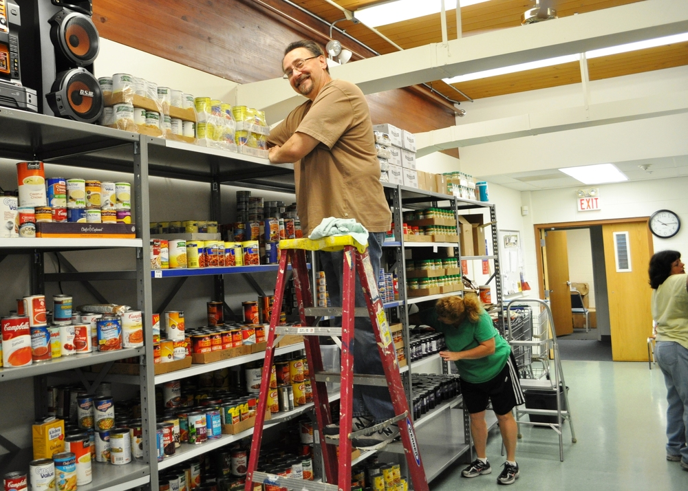 cleaning at food pantry.JPG