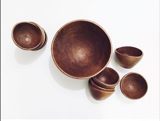 Vintage Hand Carved Bowls from Whiskey + Honey