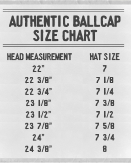 Ebbets Field Flannels Sizing Chart
