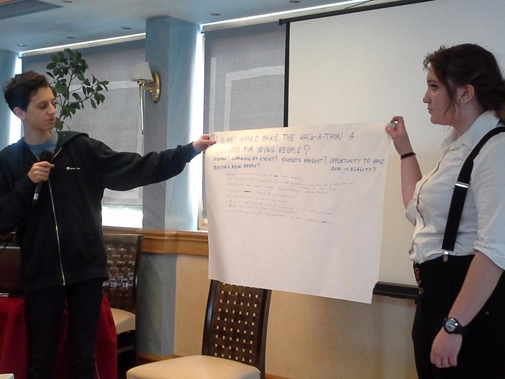 Greek students present their ideas
