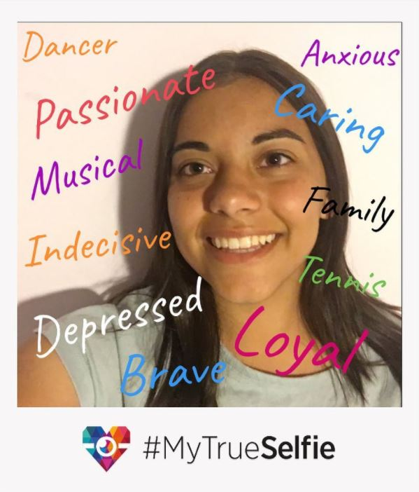Elsa's #MyTrueSelfie - take your own at www.mytrueselfie.com!
