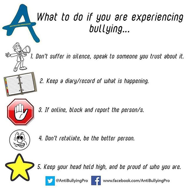 What you can do if you're being bullied ...