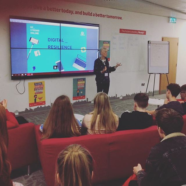 In Dublin at Vodafone headquarters running Digital Resilience workshop with ISPCC