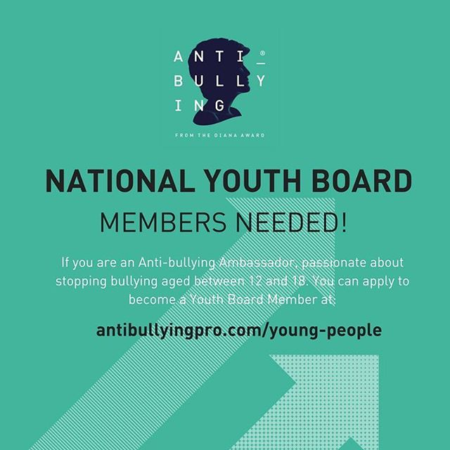 Passionate about Anti-Bullying? Want to represent the voice of young people? Apply to be on our National Youth Board. Link in bio: antibullyingpro.com/young-people