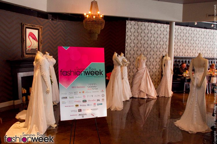 IO Bridal Gowns on display at TBFW Bridal Brunch 2013