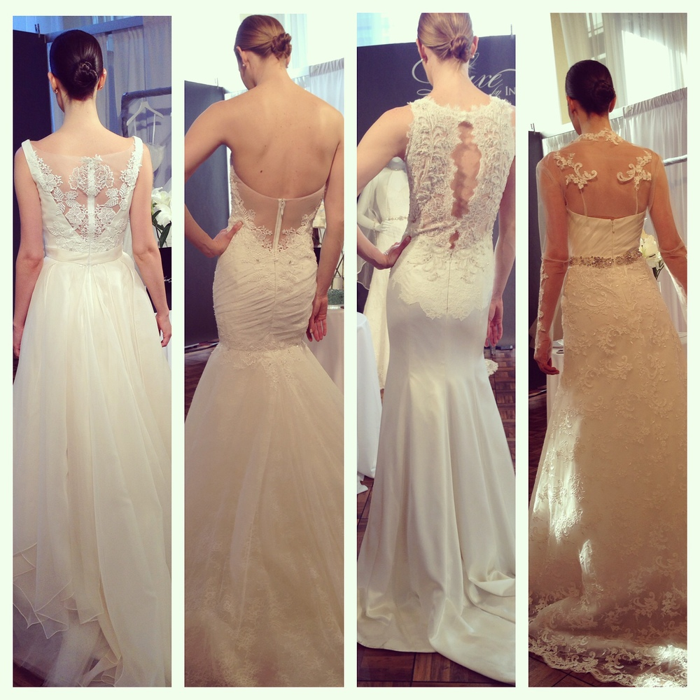 Ines Di Santo Luxe Low Back Backless Wedding Dresses