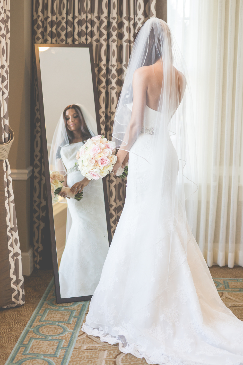 IOBC Bride Christine in Alyne Monaco
