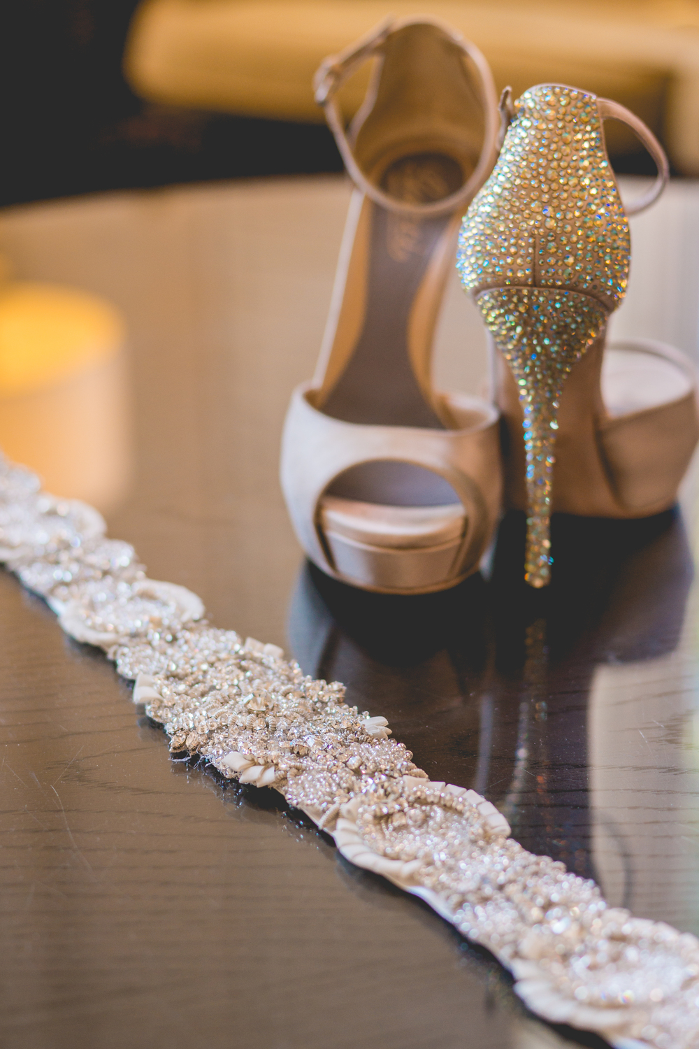 Gucci Shoes and Untamed Petals by Amanda Judge Sash