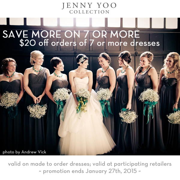 Jenny Yoo January 2015 Bridesmaids Sale
