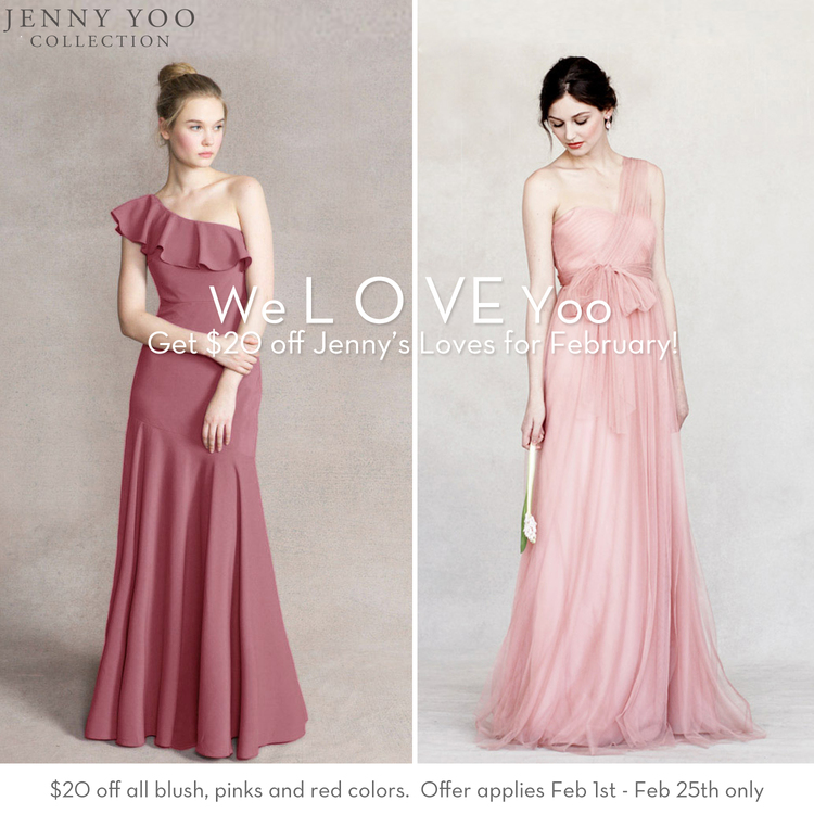 624590cbe5a Jenny Yoo Bridesmaid February Promotion! — Isabel O Neil Bridal ...