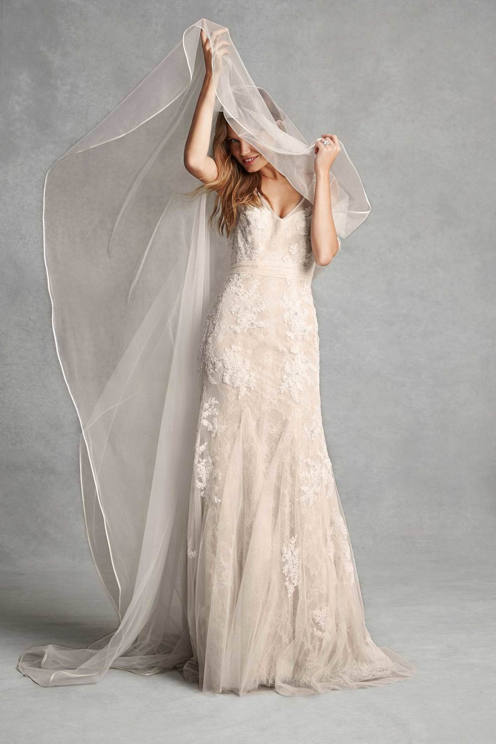 Lace and Tulle Wedding Dresses Monique Llhuilier