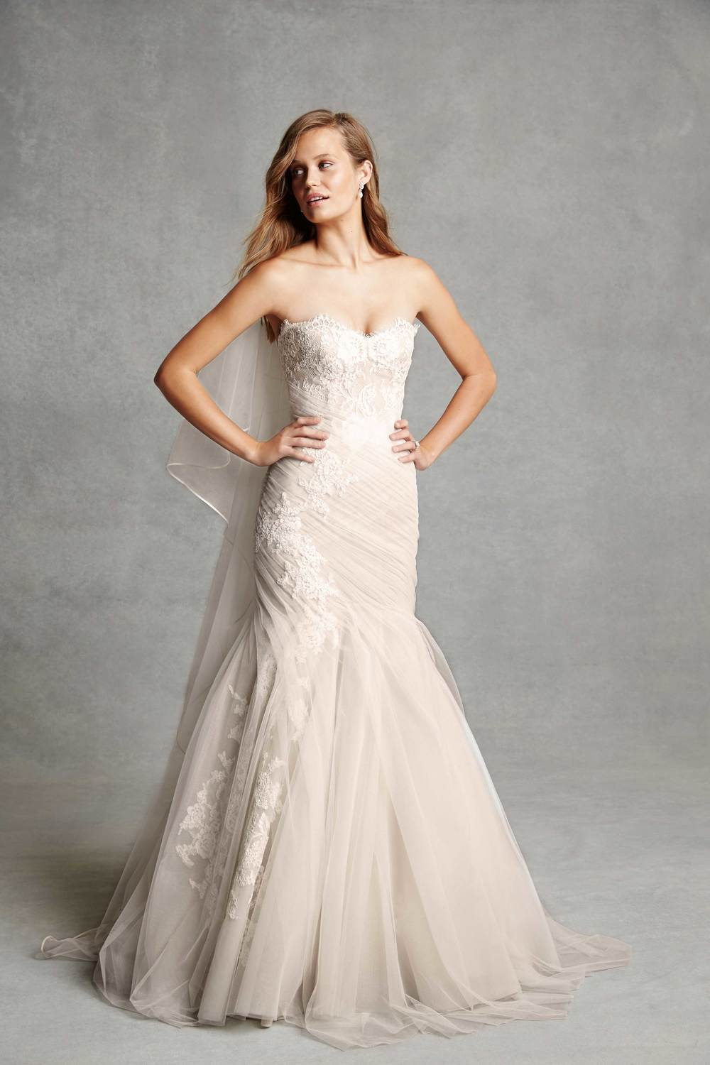 BLISS Monique Lhuillier BL1516 Strapless Sweetheart Lace Wedding Dress Tampa Bridal Shop
