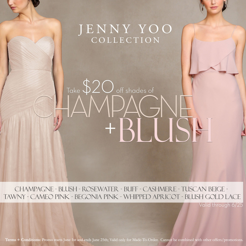 Blush Bridesmaids Dresses Jenny Yoo Tampa Bridal Shop Isabel O'Neil