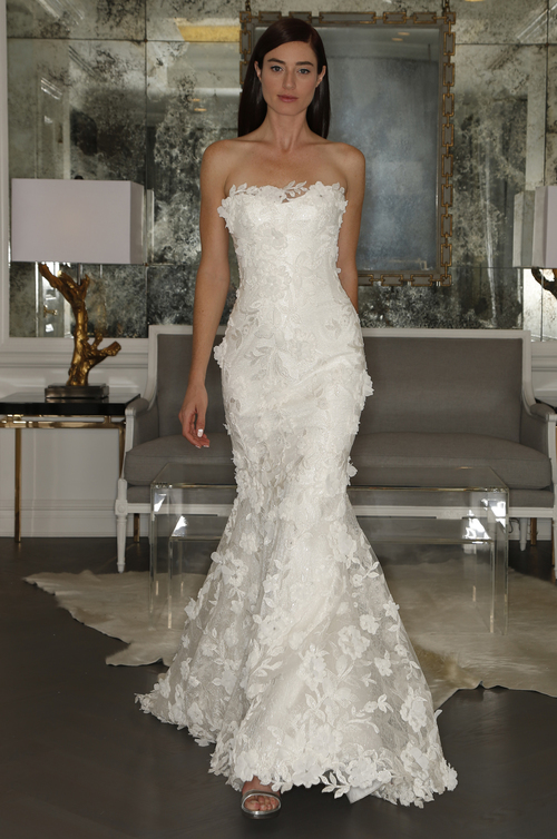 Romona Keveza Flower Lace Wedding Dress Tampa Bay Isabel O'Neil Bridal Shop