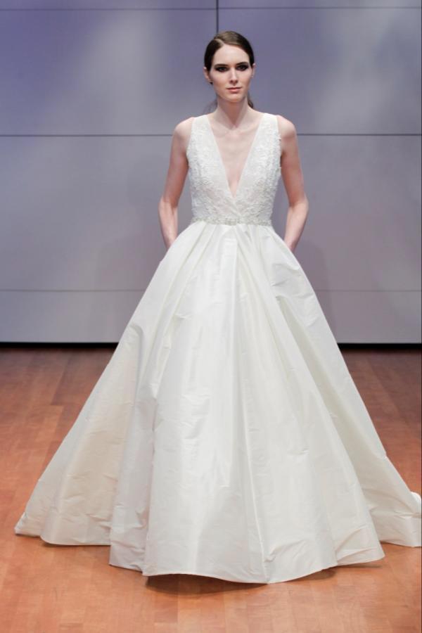 Alyne Bridal Ester Plunging V Neck Ball Gown Wedding Dress