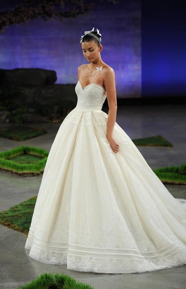 Ines Di Santo Jillian Lace Ball Gown Wedding Dress