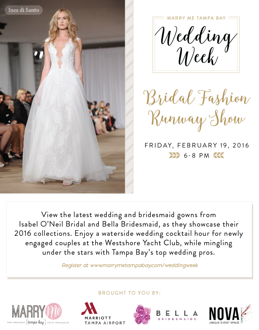 Bridal Fashion Runway Show Marry Me Tampa Bay Wedding Week Ines Di Santo