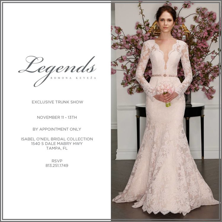Legends By Romona Keveza Trunk Show This Weekend November 11th