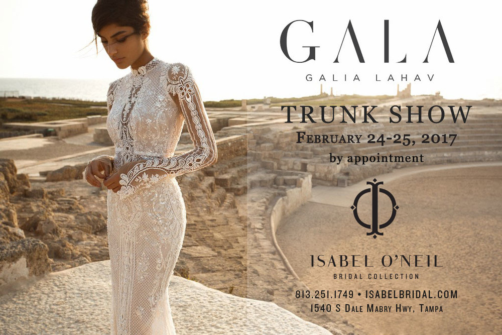 GALA Galia Lahav Trunk Show Tampa Florida Sexy Lace Wedding Dress Shop Boutique