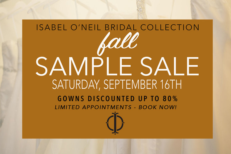 c9b58bf680123 Bridal Sale Day Flash Sale — Isabel O'Neil Bridal Collection ...