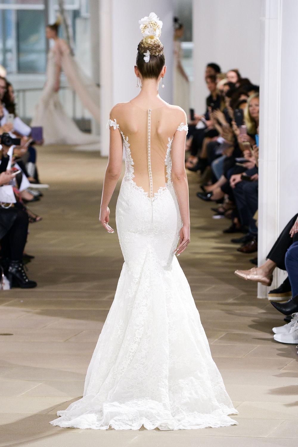Ines Di Santo Hayden lace low back sexy mermaid wedding dress