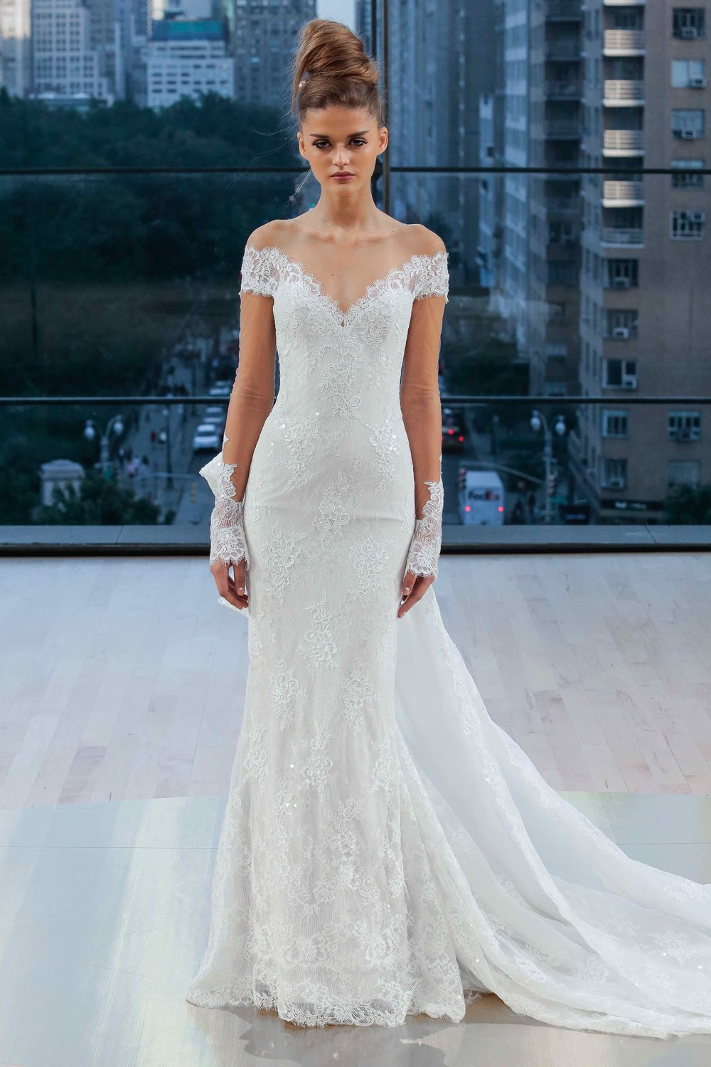 Ines Di Santo Lace Long Sleeve Wedding Dress Tampa Bridal Gown Store