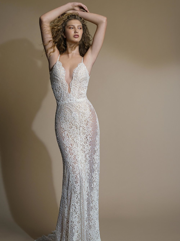 GALA G - 105 Galia Lahav Sexy beaded lace sheath wedding dress Tampa bridal shop