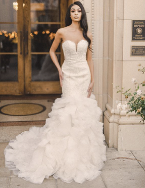 Adam Zohar Kai Bridal Emily Mermaid Ruffle Wedding Dress
